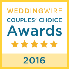 2016 WeddingWire COUPLES' CHOICE AWARD WINNERS!