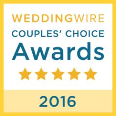 2016 WeddingWire COUPLES' CHOICE AWARD WINNERS!