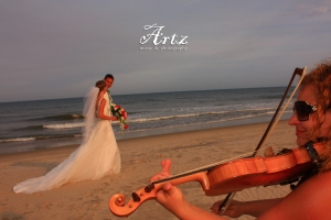 Sue Artz is Your Affordble OBX Wedding Choice for Ceremony Violin and Reception DJ!