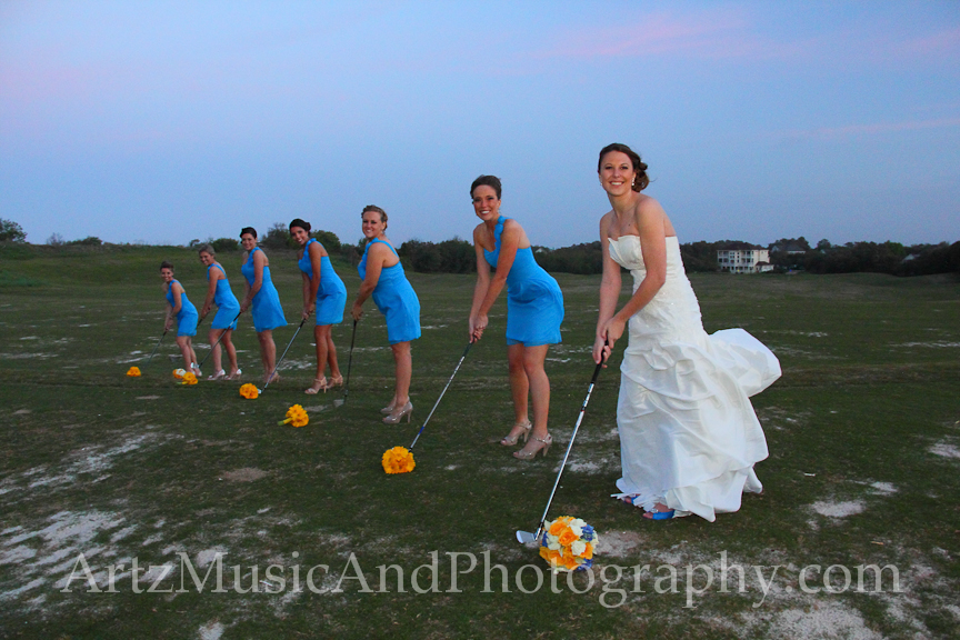 Cari and her Bridesmaids - photographed by Matt Artz on May 4, 2013 in Currituck, NC.