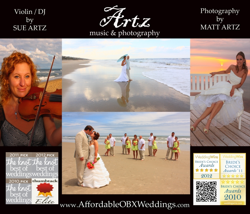 Affordable Outer Banks Weddings by Artz Music & Photography