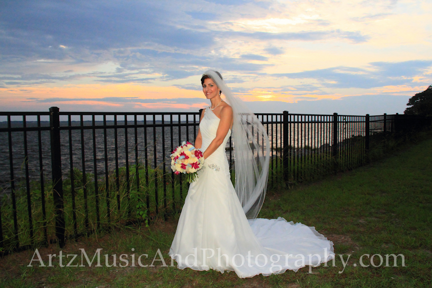 Outer Banks Wedding Bridal Portraits by ARTZ MUSIC & PHOTOGRAPHY / affordableOBXweddings.com.