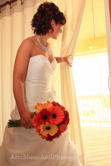 Outer Banks Wedding Bridal Portraits by ARTZ MUSIC & PHOTOGRAPHY / affordableOBXweddings.com.