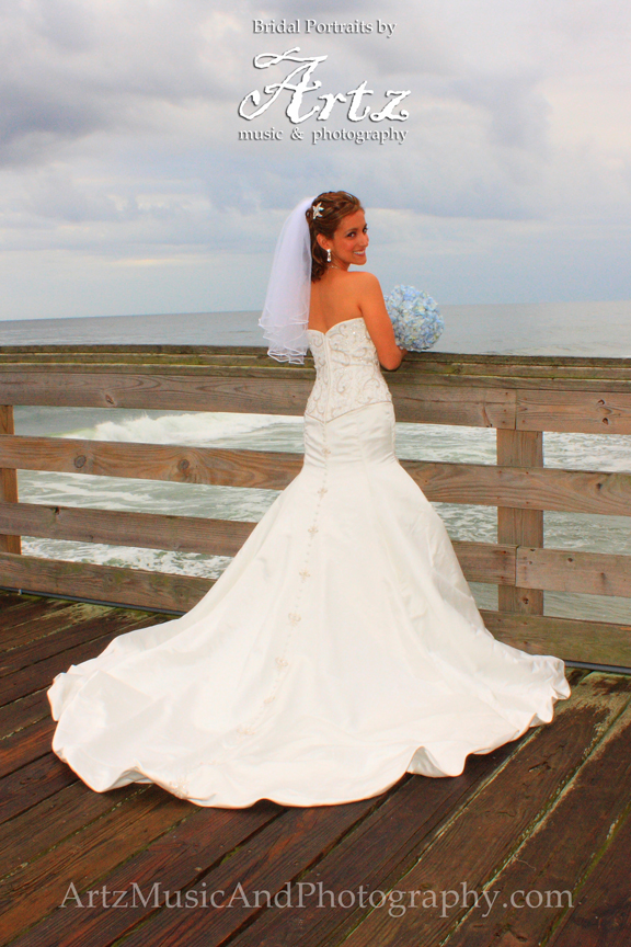 Outer Banks Wedding Bridal Portraits by ARTZ MUSIC & PHOTOGRAPHY / affordableOBXweddings.com. Letty, photographed by Matt Artz on August 1, 2010 in Kitty Hawk, NC.