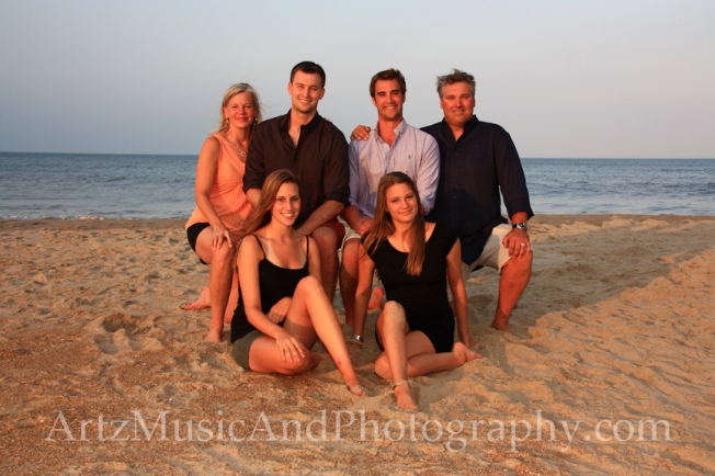 Outer Banks Family Beach Portraits by Artz Music & Photography