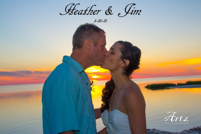 Heather & Jim, photo by Matt Artz for Artz Music & Photography / AffordableOBXWeddings.com.