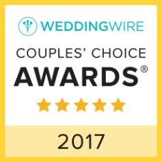 2017 WeddingWire COUPLES' CHOICE AWARD WINNERS!