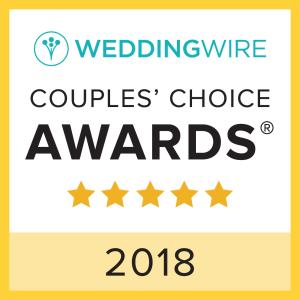 WeddingWire 2018 Couples' Choice Winner